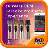 Misturador de microfone Andriod iPhone PC TV com músicas originais função liga/desliga Vocal