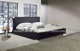 Re moderno Size Leather Bed (HC009) della mobilia della camera da letto della doppia base di modo