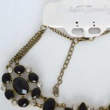 De zwarte Acryl Grote Halsband van de Tegenhanger van het Bergkristal van de Bloem