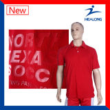 Healong qualsiasi camicia 100% di polo del poliestere di stampa di scambio di calore dell'abito di marchio
