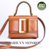 Мода дизайн из натуральной кожи крупного рогатого скота дамской сумочке среднего ремня Леди Элегантная сумка Emg5186