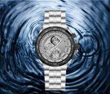 Los hombres de múltiples funciones de la Seis-Aguja de la manera impermeabilizan el reloj del asunto del cuarzo del acero inoxidable