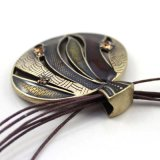 Круглое ожерелье цепи веревочки шкентелей с Rhinestone в Анти--Золоте
