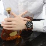 2017 courroie en cuir noire colorée par placage neuf d'IP de la montre-bracelet 46mmcase de mode