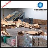 La prensa de balas horizontal semiautomática máquina para la gestión de residuos