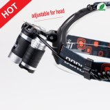 As baterias as mais novas do diodo emissor de luz Headlamp+Charger+18650 do CREE T6+2r2 do estilo