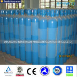 cilindro di ossigeno della bombola per gas 150bar con la valvola e la protezione