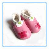 Preiswerte gedruckte Baby-Großhandelsform bereift Baby-lederne Schuhe