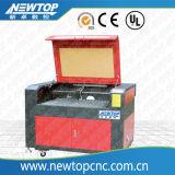 Cortadora del grabado del laser del CO2 para de madera/de acrílico/el vidrio/cuero (6090)