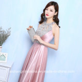 Satin noite vestidos Longo Lace Up Prom Dress Formal