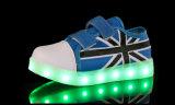 Zapatos Moda Unisex LED de luz blanca Deporte Glow las zapatillas de deporte de los zapatos corrientes de LED