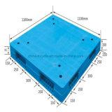 Face dupla Logística/ 4 Caminho /HDPE palete plana para depósito de plástico