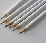 HB en bois de crayons de forme ronde avec l'extrémité de gomme à effacer