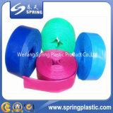 PVC воды насоса высокого полива давления аграрного поливом гибкого желтым/голубым/красным шланг положенный плоский