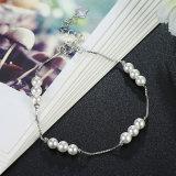 Braccialetto fragile dell'argento della perla del braccialetto d'acciaio dai 925 Sterling per la ragazza