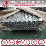Tôle ondulée revêtue de zinc / Tôle de toit en zinc / Toiture galvanisée