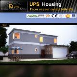 現代デザインおよび台所機能が付いている2軒の層の別荘の家