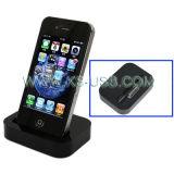 Черный держатель док-станции зарядное устройство с разъемом 3,5 мм линейный выход для iPhone 4/4S (КИП4G-1021)