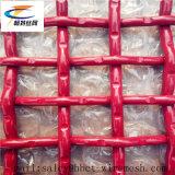 Rojo 65mn/tejido de malla metálica engastada