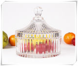Design unico Glass Candy Jar con Glass Lid Wholesale