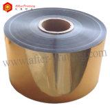Лоснистым пленка металлизированная золотом термально прокатывая