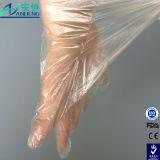 Одноразовые прозрачные HDPE перчатки для работы с салоном красоты с помощью