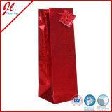 Подарок бутылки вина кладет бумажный мешок в мешки подарка вина с подгонянными логосом и печатание