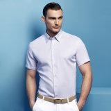 새로운 남자의 상표 태양열 집열기 호리호리한 적합 간결은 사업 예복용 와이셔츠를 소매를 단다