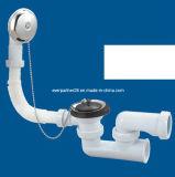 Drainer della vasca da bagno, valvola residua del bagno con overflow e presa