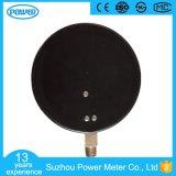 150mm schwarzes Stahlfall-Qualitäts-Druckanzeiger-Manometer