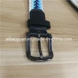 黒い金属のバックル編みこみの伸縮性があるストラップベルト
