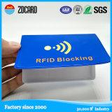 Padrão de fibra de carbono PU Leather RFID Blocking Card Holder