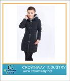 Nouvelle conception de l'hiver Lady Down Coat avec le phoque à capuchon