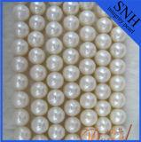 9-10mm ronda cerca de las perlas de agua dulce