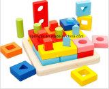 Brinquedos de madeira DIY da forma geométrica