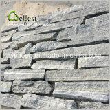 Impiallacciatura grigia della pietra della pila di colore per il rivestimento della parete
