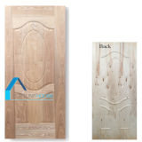 Peau de porte de contre-plaqué de 6 panneaux avec le placage en bois de cendre