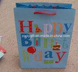 Saco de papel de impressão de feliz aniversario personalizado Saco de presente de aniversário de brilho