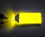 Luminoso do diodo emissor de luz com as cores usadas