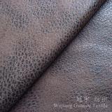 Tissus de sofa de Nubuck de cuir de suède de polyester d'impression de clinquant