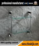 Prateleira de vidro elegante do aço inoxidável para o acessório do banheiro