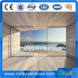 Grand prix en aluminium de porte glacé de porte coulissante des prix de porte coulissante par double en verre
