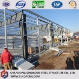 Almacén ligero de la estructura de acero con la columna de la resistencia del viento