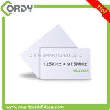 híbrido de 125kHz TK4100+UHF H3 RFID/tarjeta dual de la frecuencia