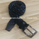 Tricotado de grãos punctata preto Correia Elásticos