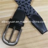 Plano de grosor doble hebilla de cinturón trenzado de hilos de color