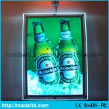 La publicité du cristal DEL Lightbox pour le restaurant