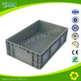 Contenitori di memoria di plastica di colore grigio con i coperchi