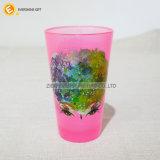 480ml het zwarte Lichtrose Glas van de Pint met het Overdrukplaatje van de Folie