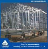 Taller industrial de la estructura de acero del bajo costo con el material de construcción de la viga